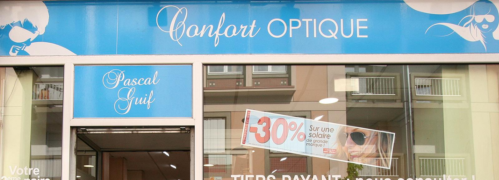 magasin confort optique aulnay sous bois façade